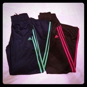 2 Pairs of Black Adidas youth L pants